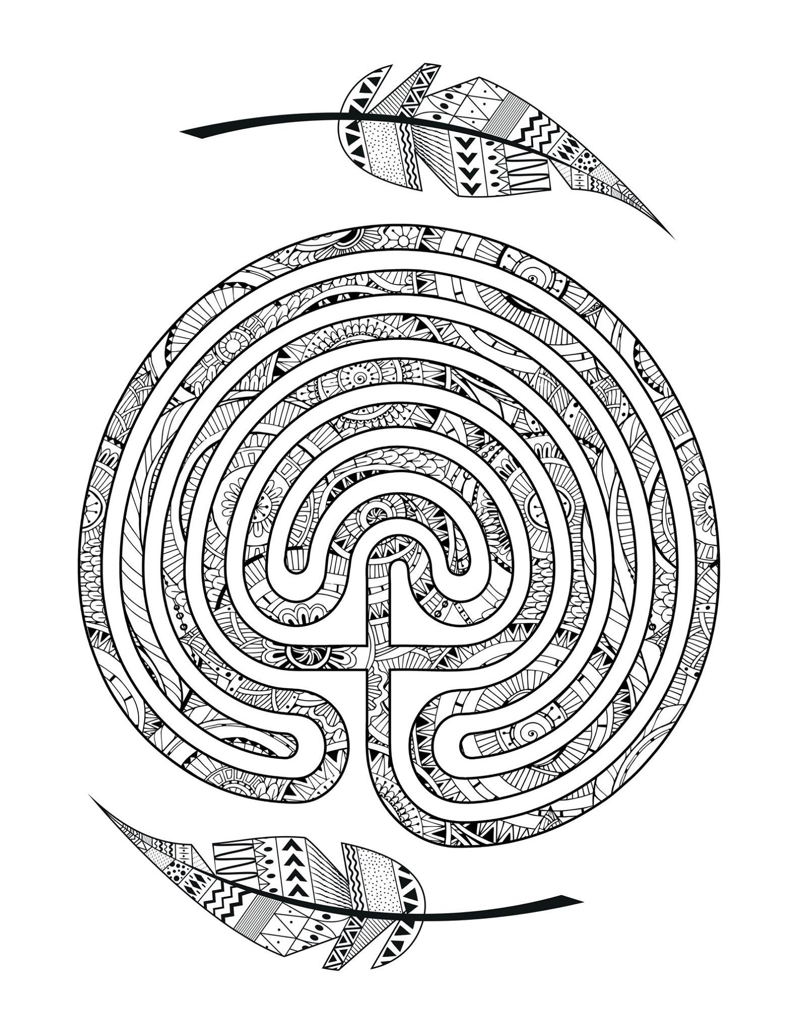 Connies Version Of The Common Ground Labyrinth Based On Vesica 5 Circuit Meander Pisces Symbol Was Submitted To Zero Labyrin