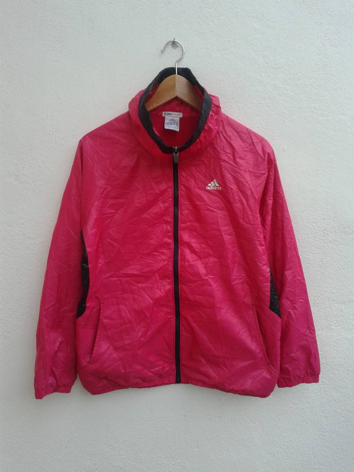 Adidas Adidas Clima Proof Windbreaker Basic Running Coat Vintage 90s Pink Jacket Sportswear Pink Jacket Jackets Windbreaker [ 1600 x 1200 Pixel ]