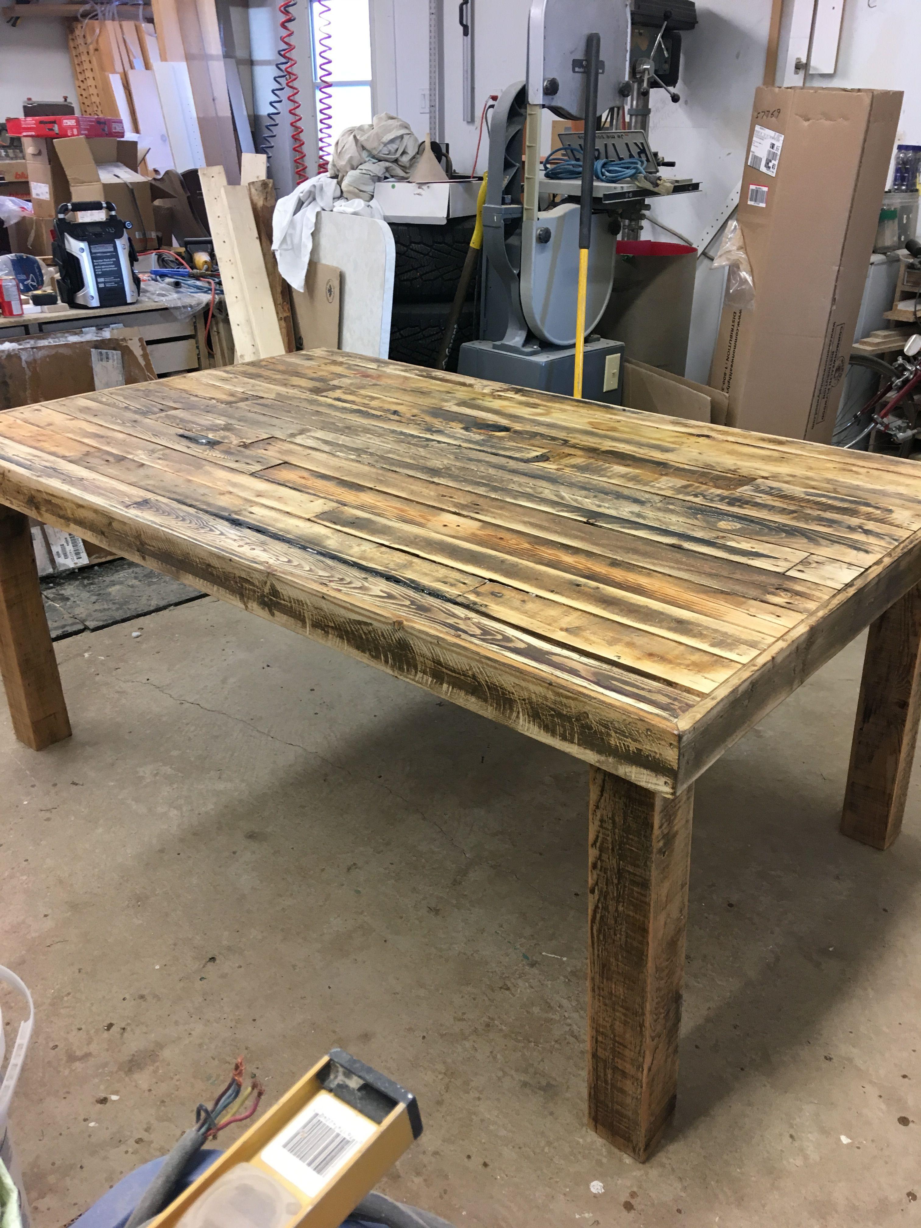 Table bois de palette  Pallet table, Table, Decor
