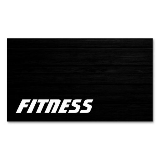 Ultra Thick Wood Effect Fitness Business Card