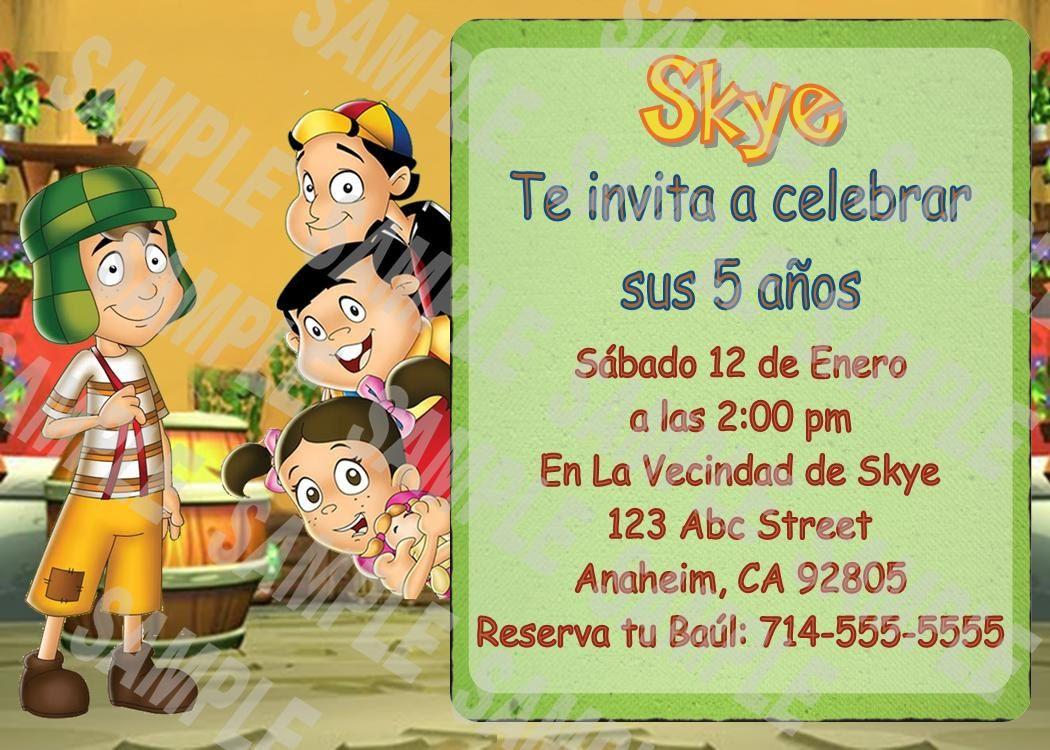 El Chavo Del Ocho 8 Animado Invitación By Februaryskyes On