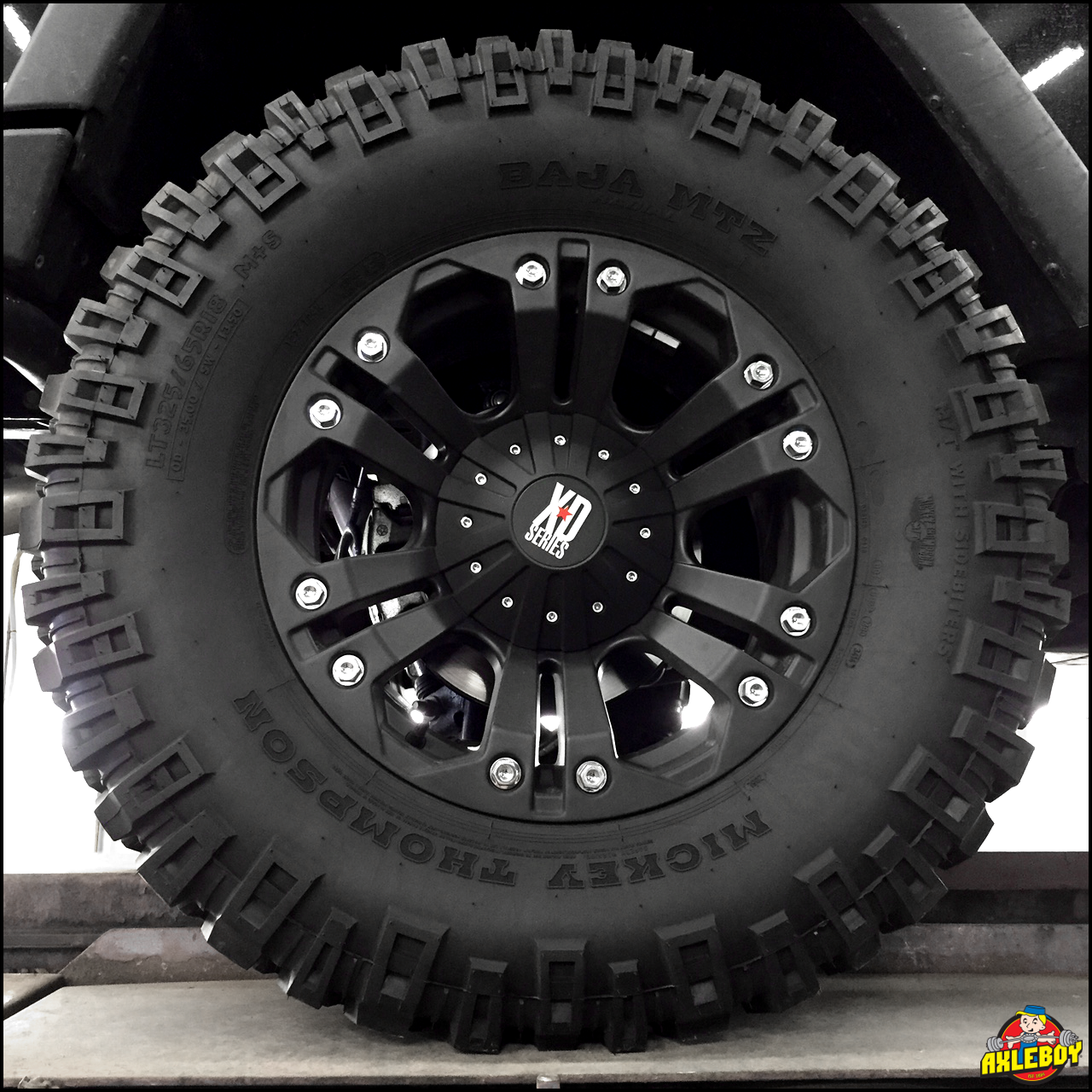 Mickeythompson 325x65r18 Mtz Tires Mounted On Xdseries Wheels At Axleboy Truck Wheels New Chevy Silverado Jeep Wrangler Rubicon