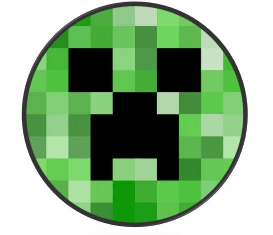Creeper Face Creepers Minecraft Party Button Badge