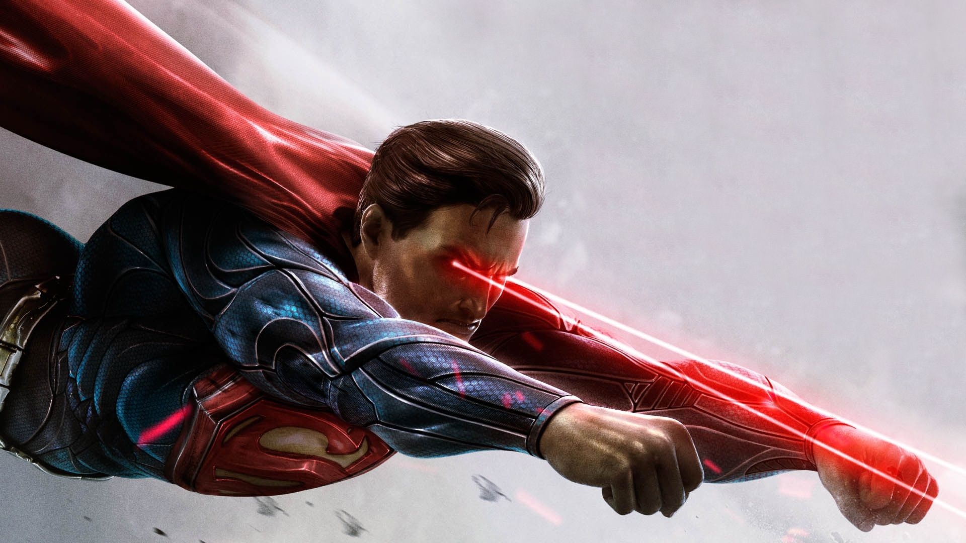 Black And Red Hd Wallpaper Of Superman