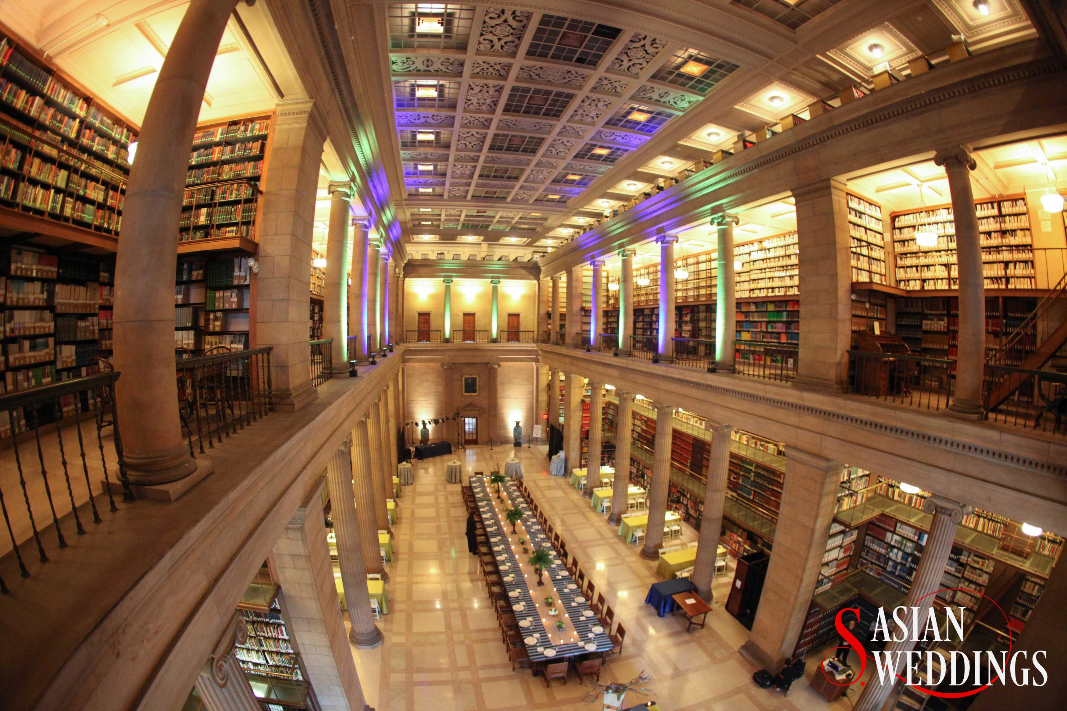 Library Wedding Gold And Burgundy Wedding Library Wedding South Asian Wedding