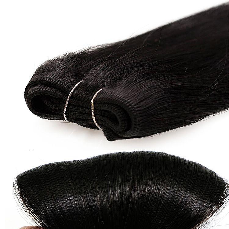 #1 JET BLACK STRAIGHT WEFT / WEAVE HUMAN HAIR EXTENSIONS 20 120G 100% REAL REMY HUMAN HAIR #humanhairextensions