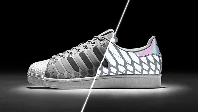Adidas Superstar Xeno Black Supercolor Womens Shell Toe Glow