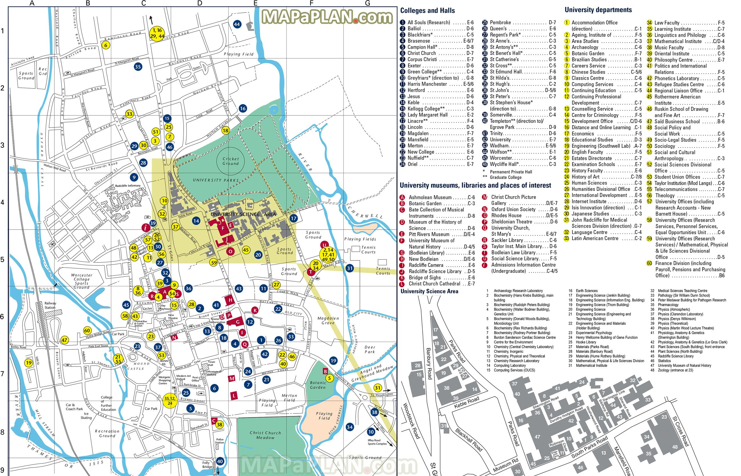 oxfordtoptouristattractionsmap03OxfordUniversityNatural