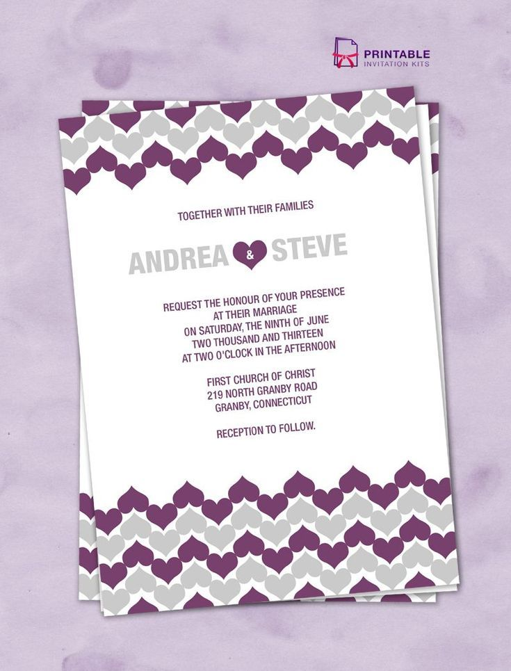 Create Your Own Wedding Invitations with These Free Templates ...