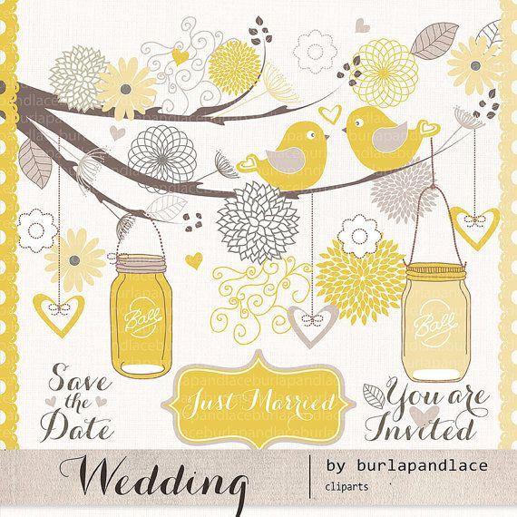 wedding birds clipart flower flower clipart wedding clipart