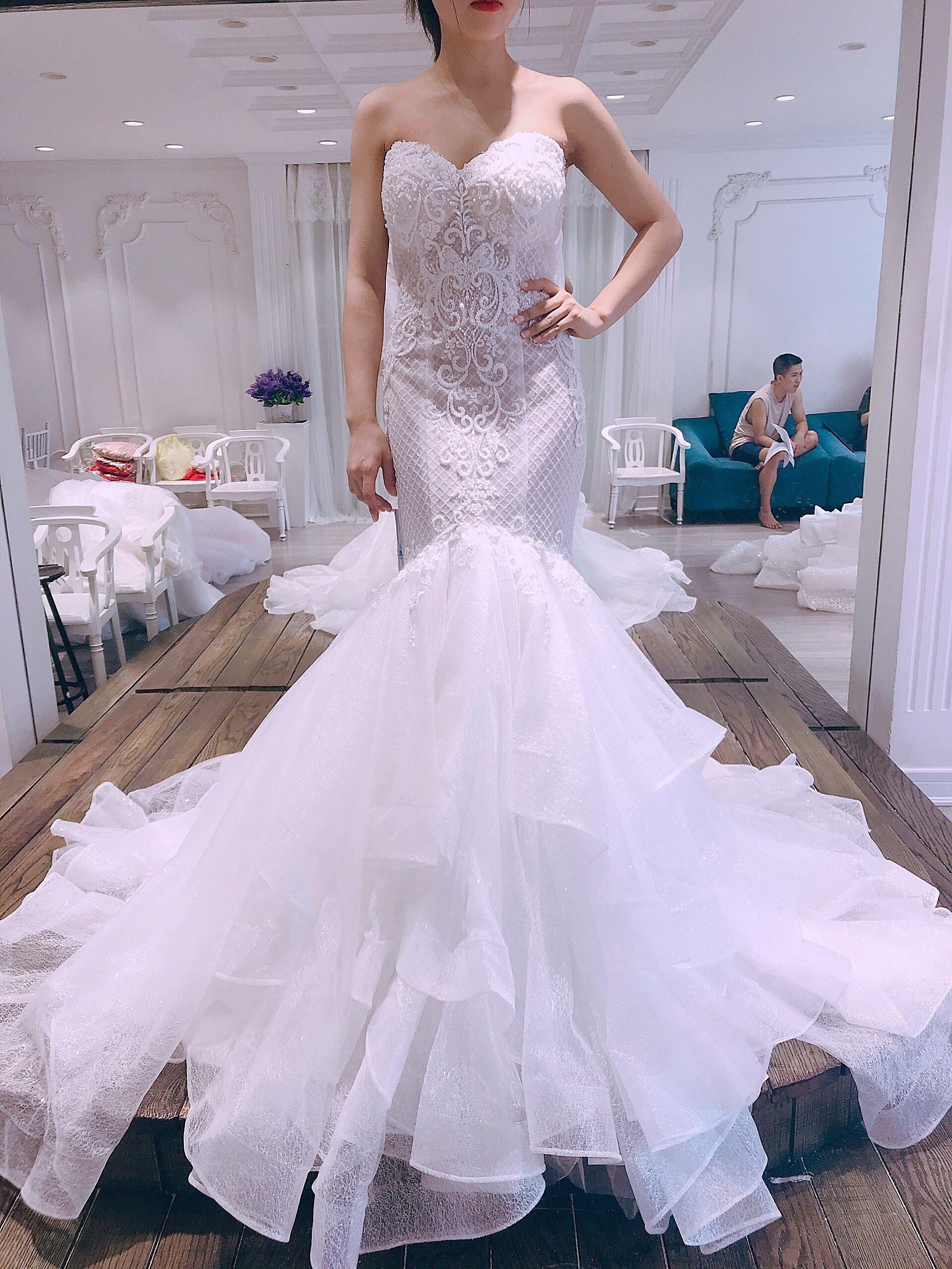 Mermaid Wedding Dress With Overskirt Etsy Wedding Dresses Online Wedding Dress Dresses [ 2560 x 1920 Pixel ]