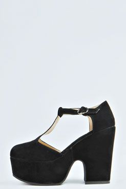 Gracey T-Bar Chunky Heels at boohoo.com | MY SAVIOR | Pinterest ...