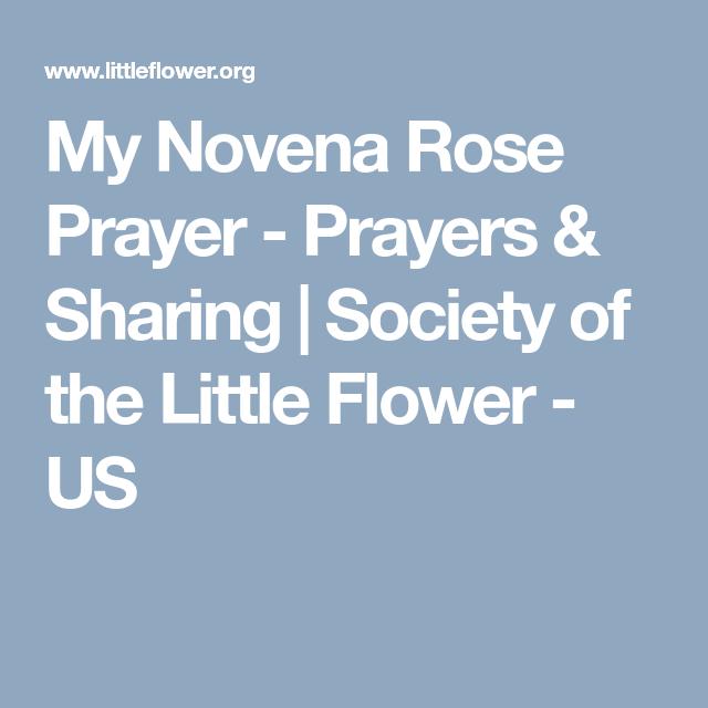 My novena rose prayer