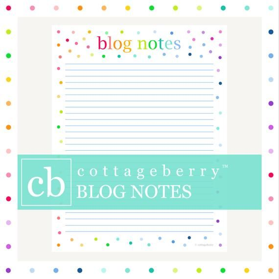 BLOG PLANNER, NOTEPAGE, Printable Sheets, Binder Printable