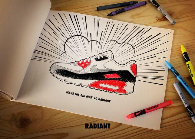 Sketch Air max 90 - Matt Stevens x Nike Series
