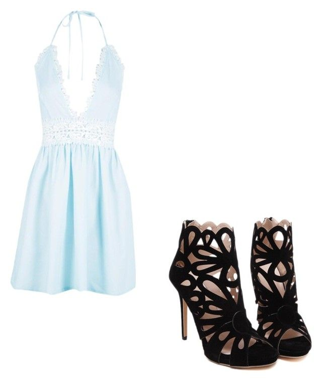 """""""Pretty in blue"""" by butterflies9999999 on Polyvore featuring Boohoo"""