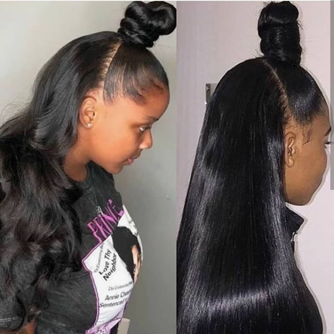 Hairstyle In 2020 Weave Hairstyles Peruvian Hair Weave Brazilian Straight Hair