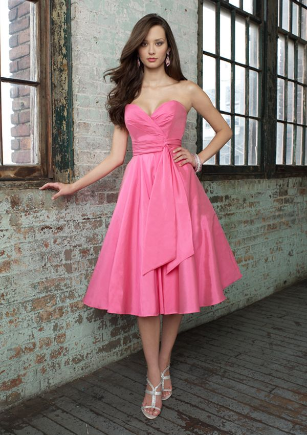 Bubblegum Pink Bridesmaid Dresses - Ocodea.com