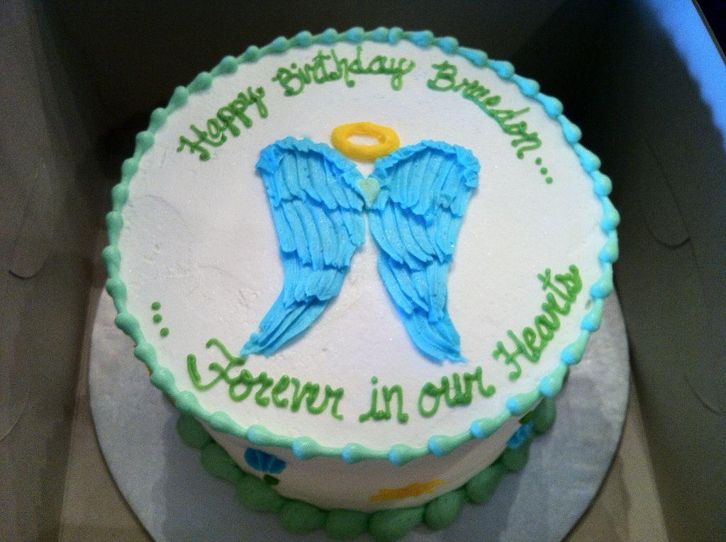 Memorial Birthday Cake In 2020 Birthday In Heaven Birthday Cake