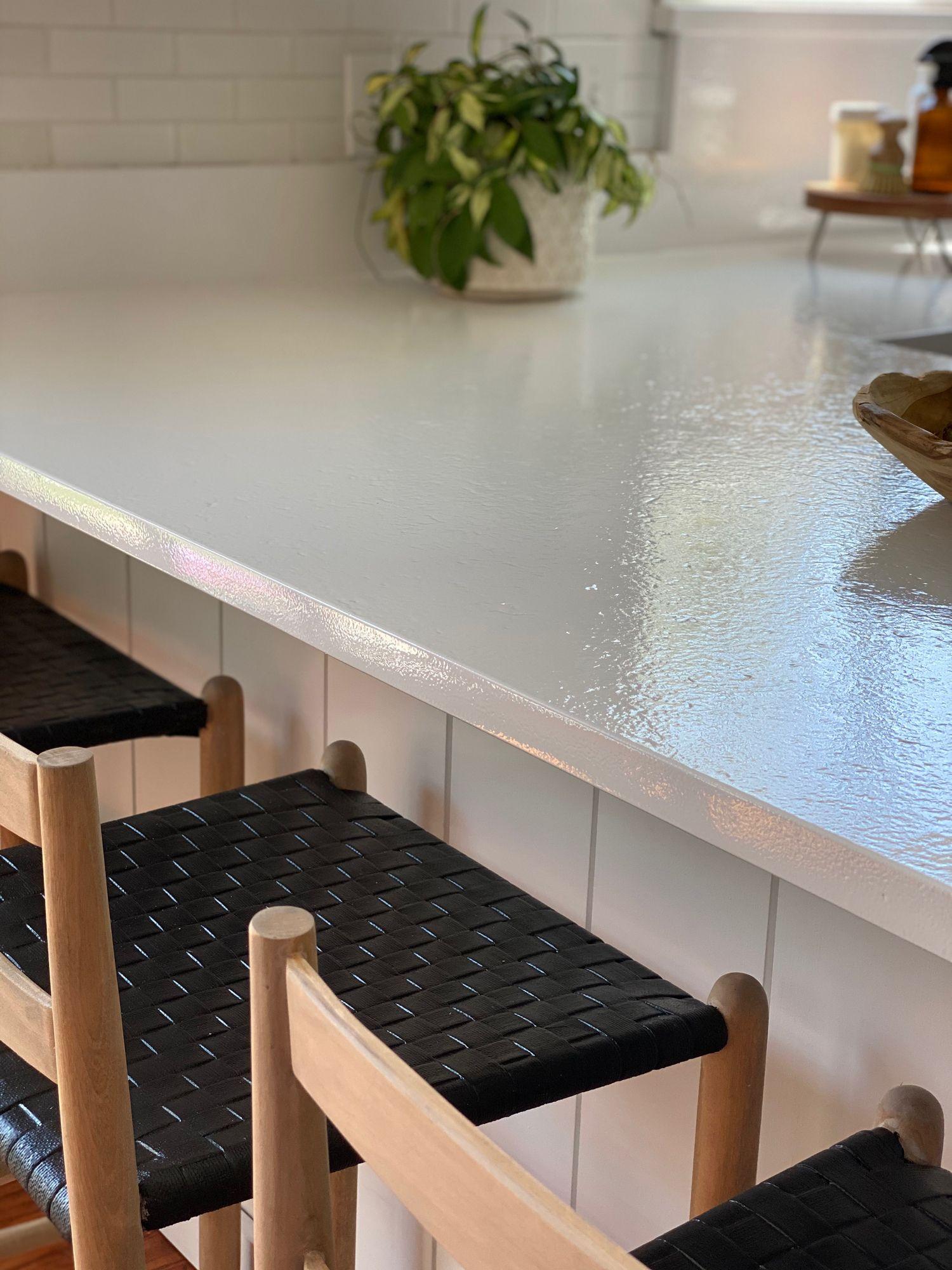 Appliance Epoxy Kitchen Counter Makeover Full Hearted Home Kitchen Counter Diy Countertops Countertop Makeover