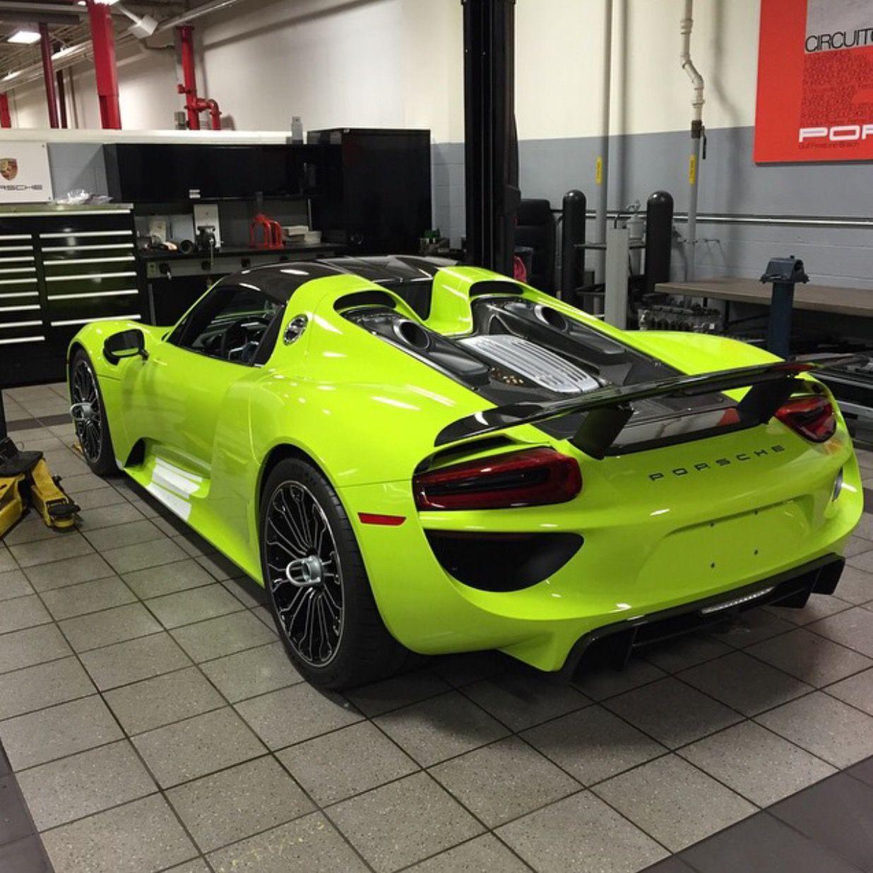Porsche 918 Spyder Painted In Acid Green Photo Taken By Jimmyrepasi On Instagram