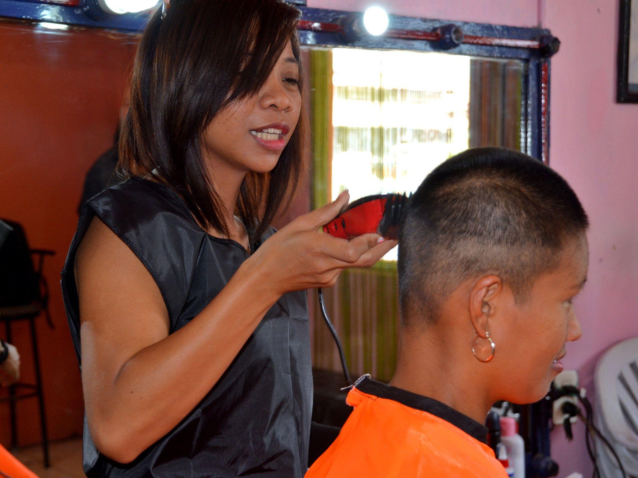 Shaved at barbershop-7088