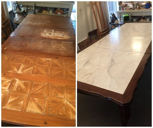 Incredible Before U0026 After Table Transformation With Modern Masters Products  | Amazing Artistry By Shauna Gallagher