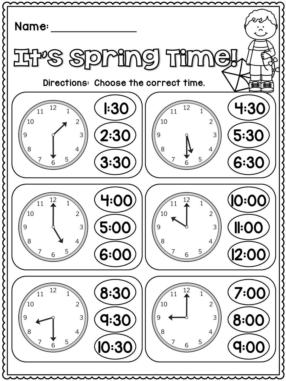 Vocabulary Set 2 Kindergarten Telling Time 2nd Grade Math Worksheets Time Worksheets Math worksheets time grade 2