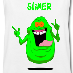 Ghostbusters Slimer Cartoon Kids White Tank Top Funky Family Gift