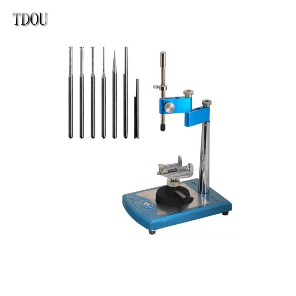 87.20$  Watch here - http://alijsq.worldwells.pw/go.php?t=32490306922 - TDOU JT10 100% Simple Viewer Portable Dental Parallel Surveyor Visualizer Spindle Equipments 7pcs Attached Exchangeable Spindles