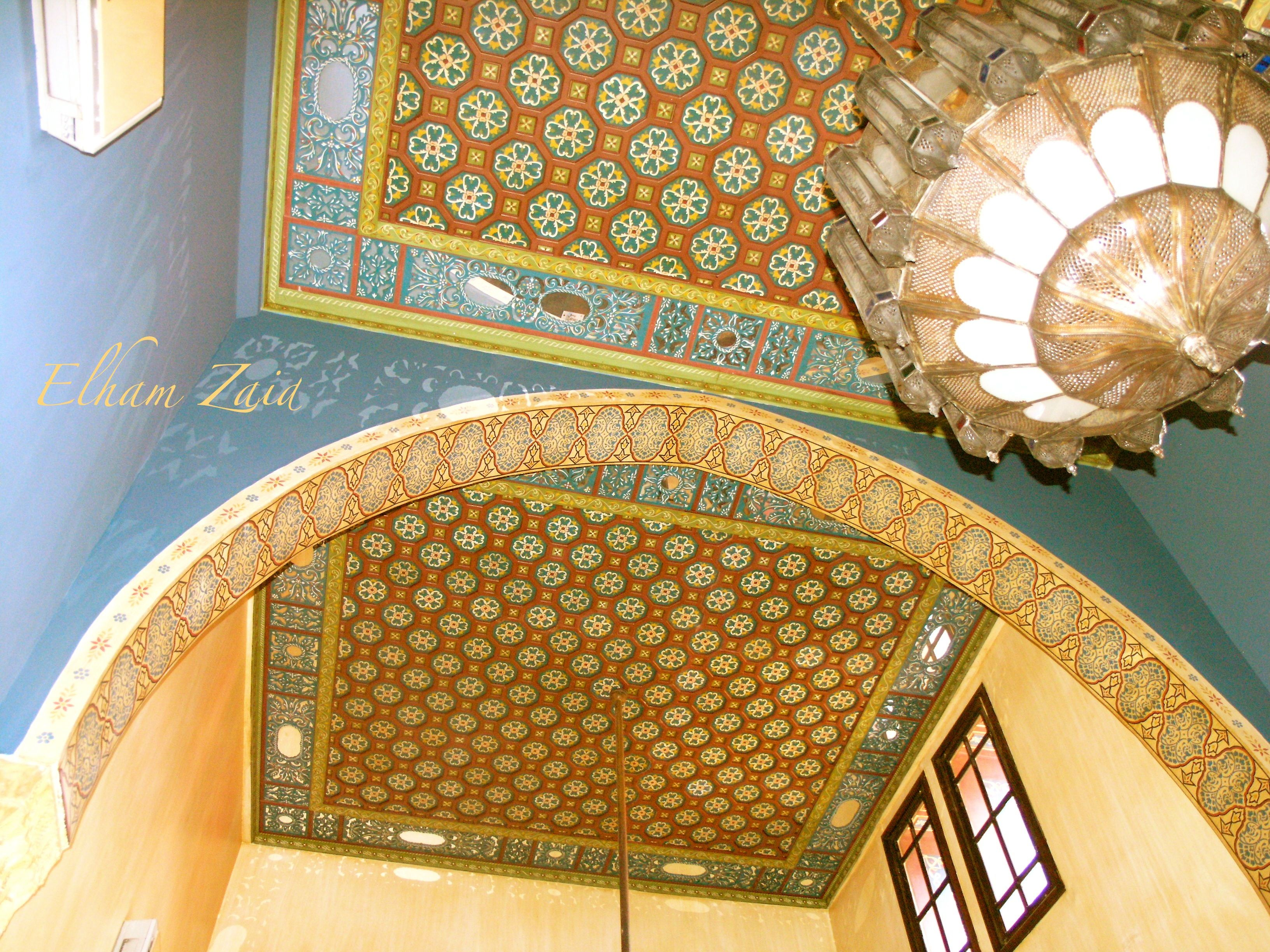 Syria, Damascus, I took these pictures my self when I was there 3 years ago. This is in old Damascus, an old traditional house converted to a hotel called Talizman. Elham Zaid.