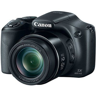 Canon PowerShot SX520 16Digital Camera with 42x Optical Image Stabilized Zoom with 3-Inch LCD (Black)