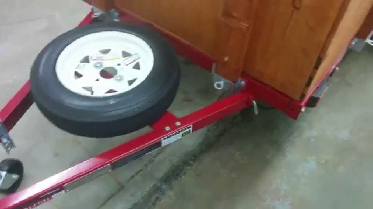Harbor Freight Folding Utility Trailer Youtube Hitch Wiring Harness Along With Kayak Plans Build