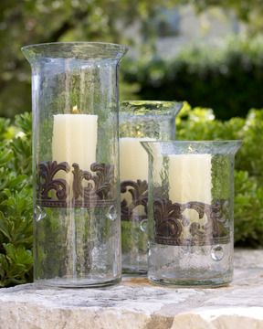 GG Collection Glass Candleholders on