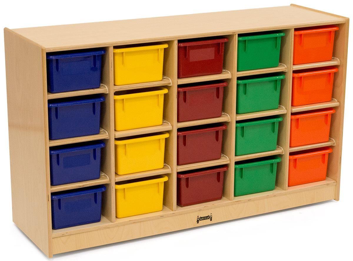 Children S Storage Unit For Floor 20 Cubbies W Multi Colored Bins Wood