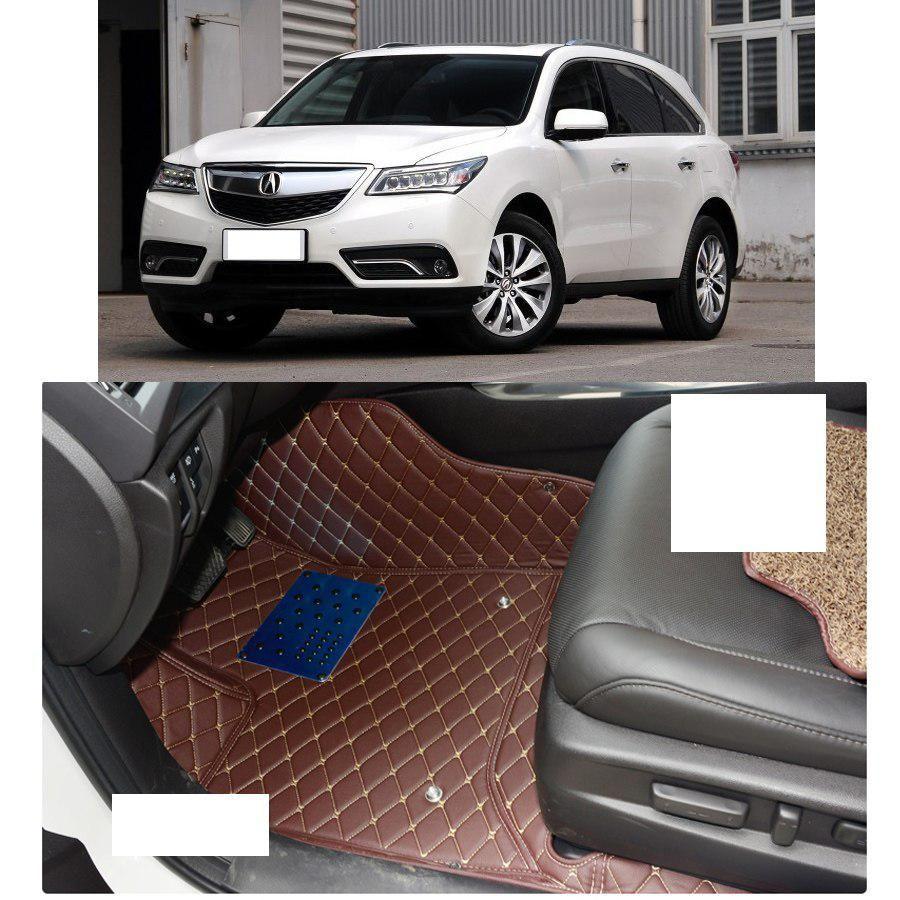 Lsrtw2017 Fiber Leather Car Floor Mat For Acura Mdx 2014