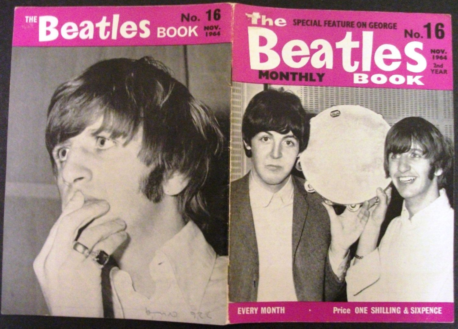 Original Nov 1964 The Beatles  Monthly Book #16 by hobohillfarm on Etsy