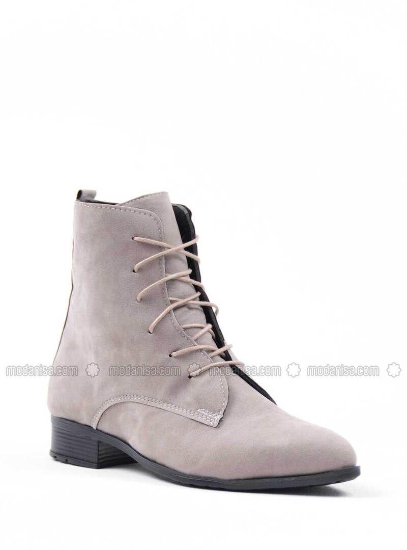 بني مينك بوت جزمة بوتات Boots Shoe Art Shoes