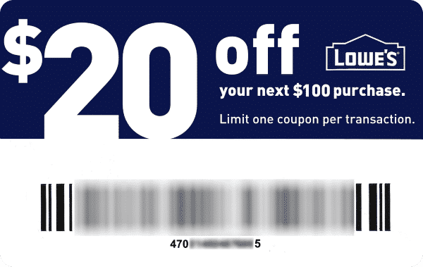 Lowes 20 Off 100 Coupon Lowes Coupon Lowes New Pins