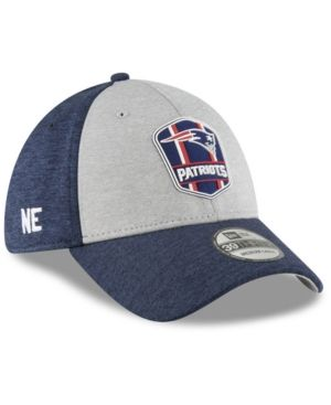 New Era New England Patriots On Field Sideline Road 39THIRTY Stretch Fitted  Cap - Blue L XL 51794302d
