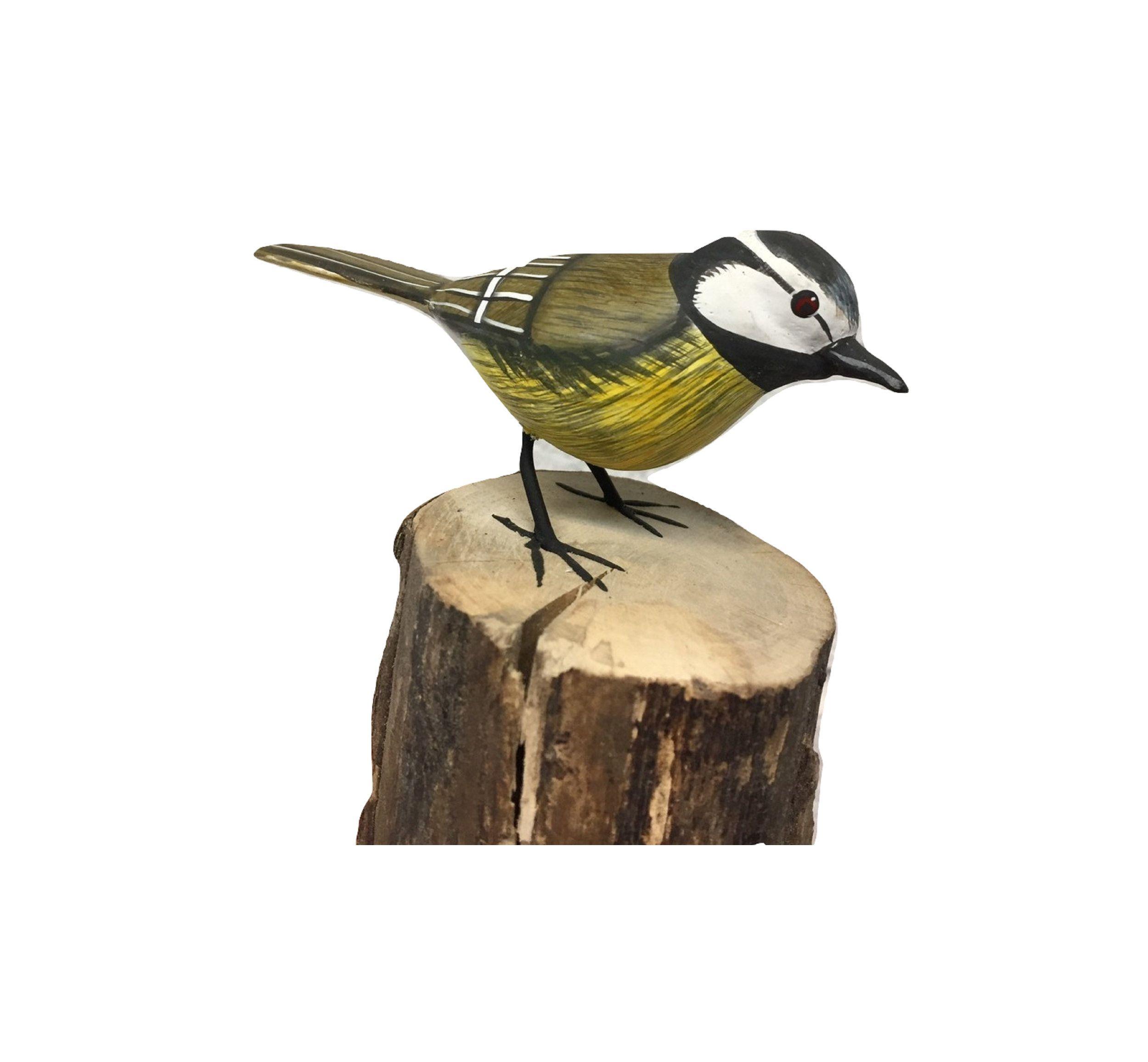 Bird Ornament Carving Figure Hand Carved Wood Garden Bird Etsy Bird Watcher Gifts Bird Hand Carved