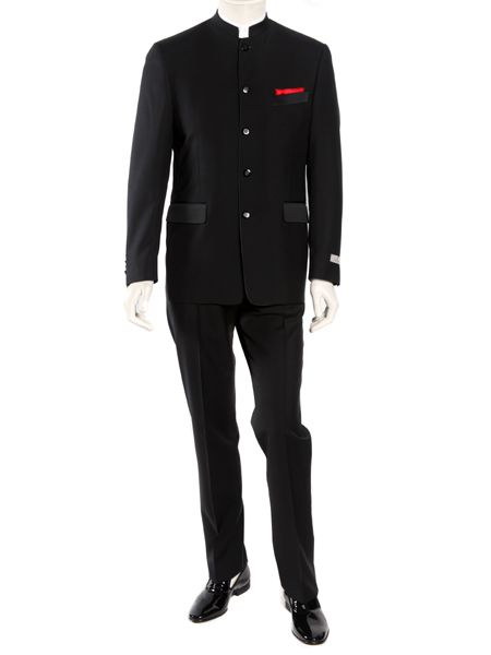 817be8535a08 Canali's classic black Nawab suit characterizes the sophisticated history  of the Maharaja era. Tailored in