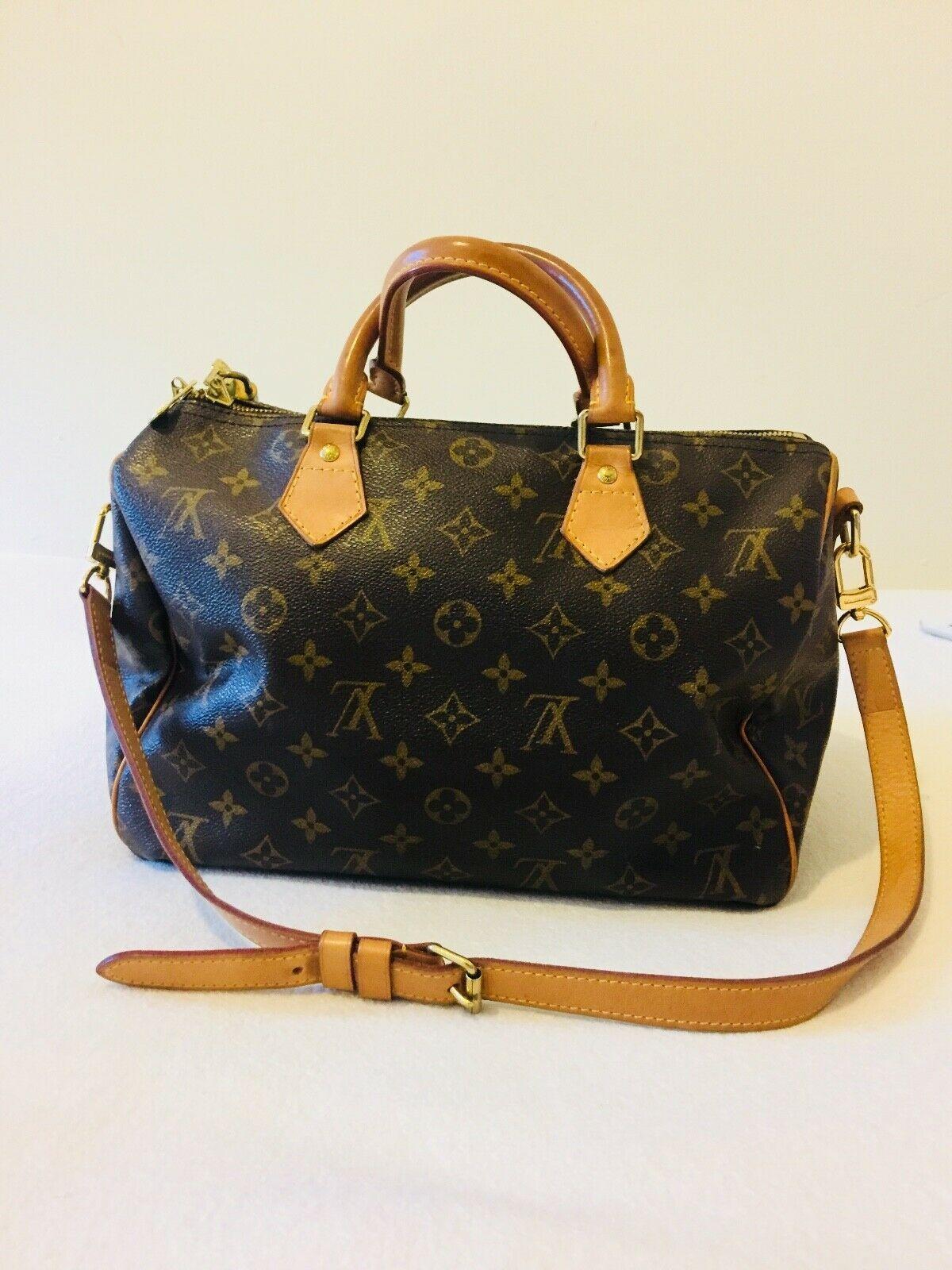 7079b4ec89d Details about 100% Authentic Louis Vuitton Speedy 30 Monogram in ...
