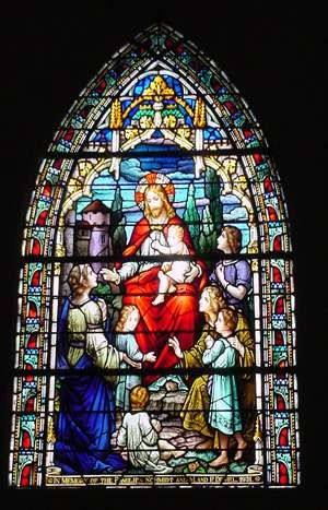 Stained Glass Window St Marys Catholic Church High Hill Texas