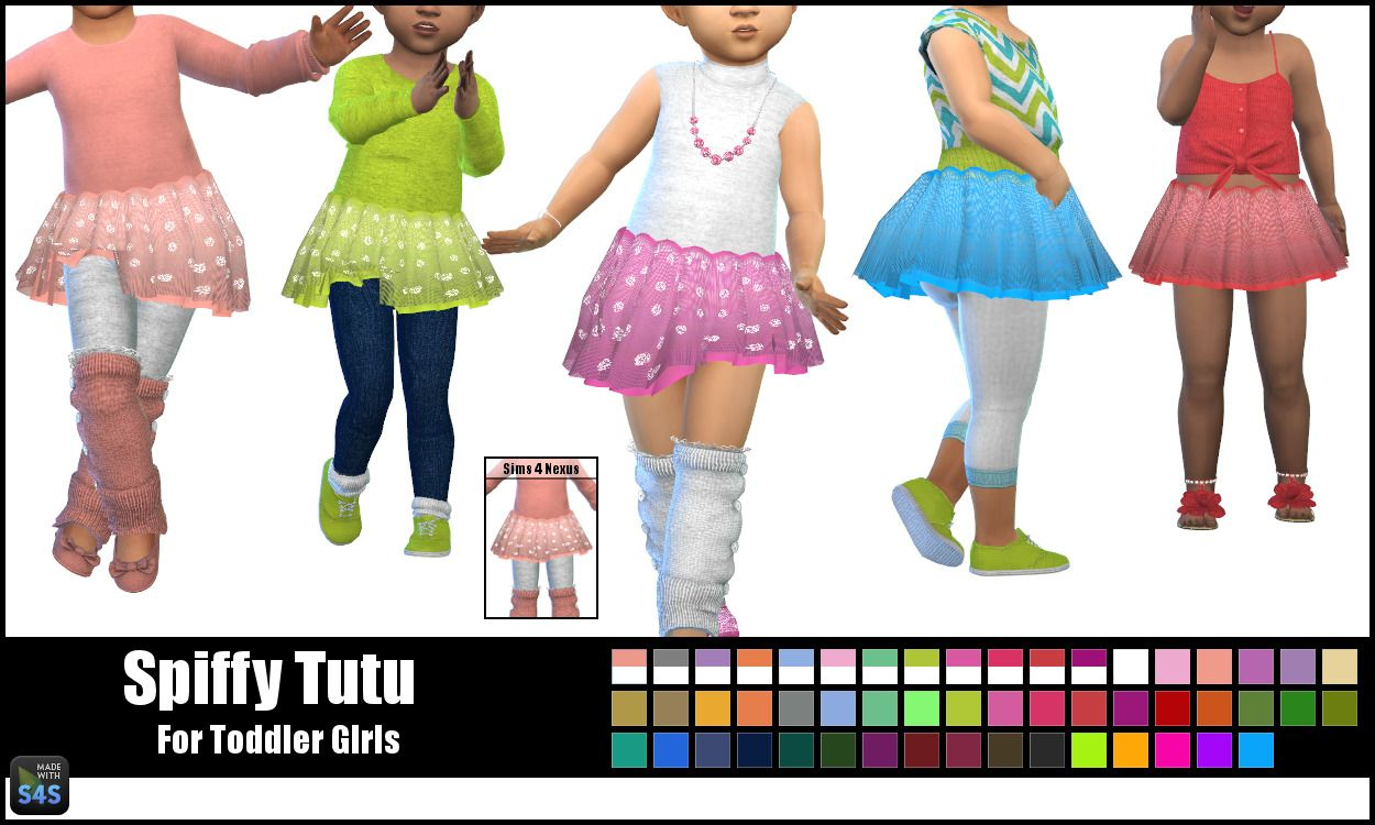 Accessory Tutu For Toddler Girls Now Available As An Early Release On My Patreon Page Thanks So Much If You Check Toddler Tutu Sims 4 Toddler Skirts For Kids
