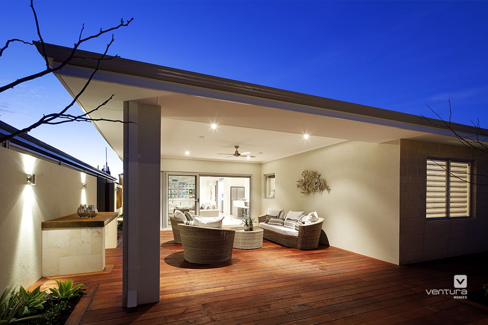 Alfresco patio backyard design. The Indugence display home by #VenturaHomes #simple #clean