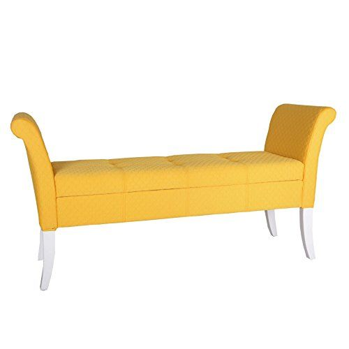 Admirable Porthos Home Ardelia Storage Bench Yellow Click For Gmtry Best Dining Table And Chair Ideas Images Gmtryco