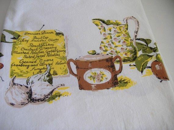 Vintage Tablecloth by RetroSpecial on Etsy, $15.00
