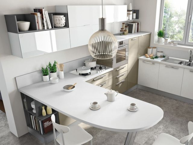 125 exemples de cuisines équipées ultra modernes u2013 partie 2 House - plan ilot central cuisine