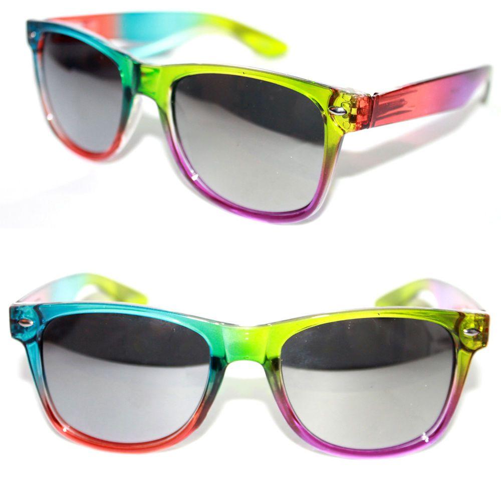 Men's Women's Horn Rimmed Sunglasses Multicolor Green